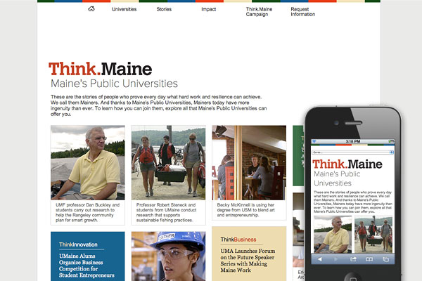recent_launch_university_system_of_maine_campaign_website