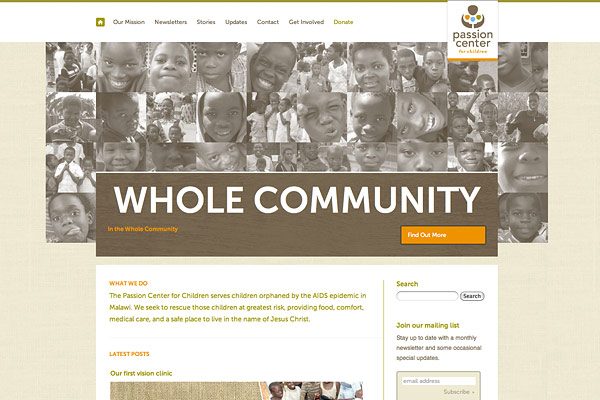 recent_launch_the_passion_center_for_children_website