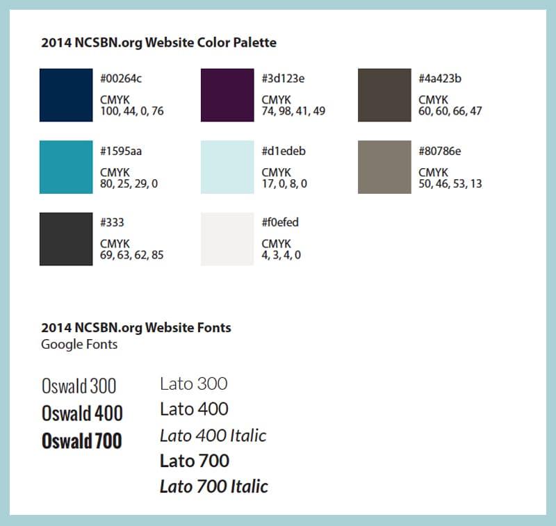NCSBN Colors