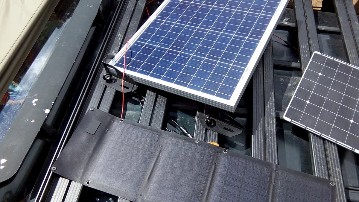 Photovoltaics on our trucks rack.