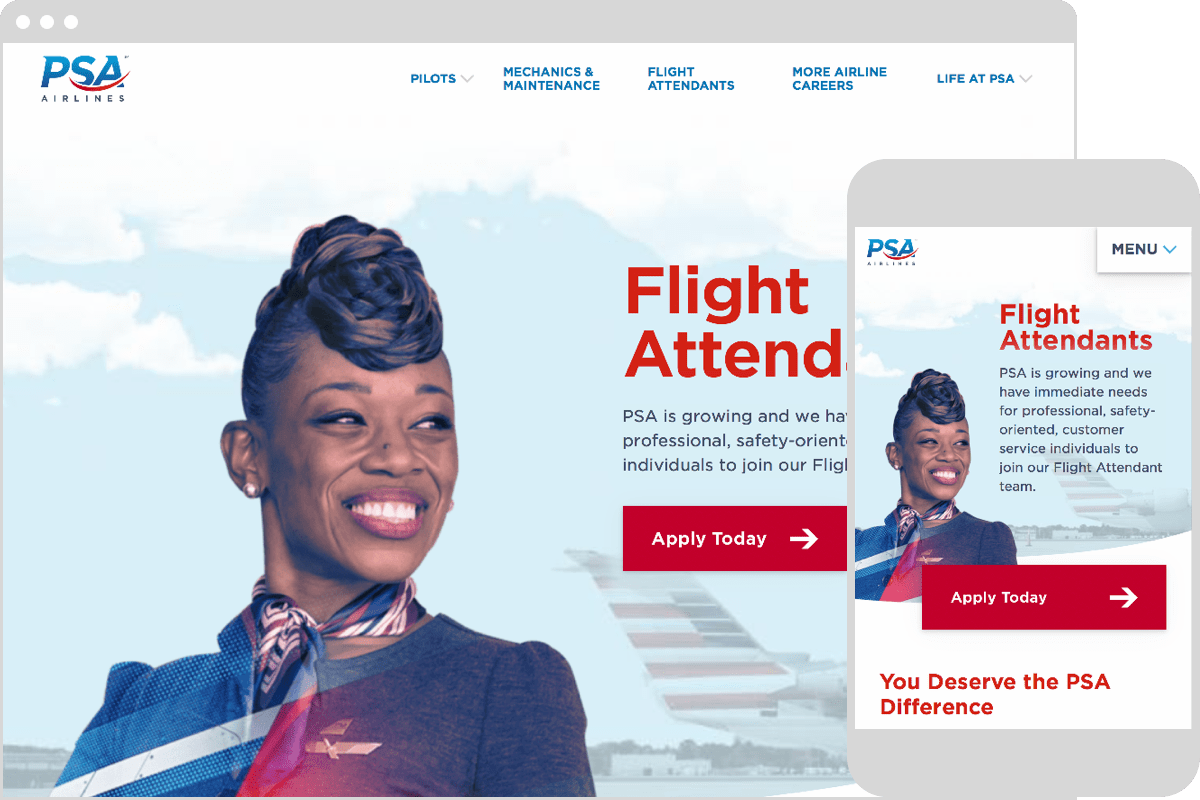 PSA Airline's Redesigned Website