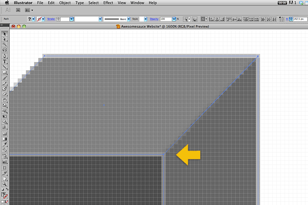 Anti-aliased edges on horizontal and vertical lines have been a major problem in Illustrator.