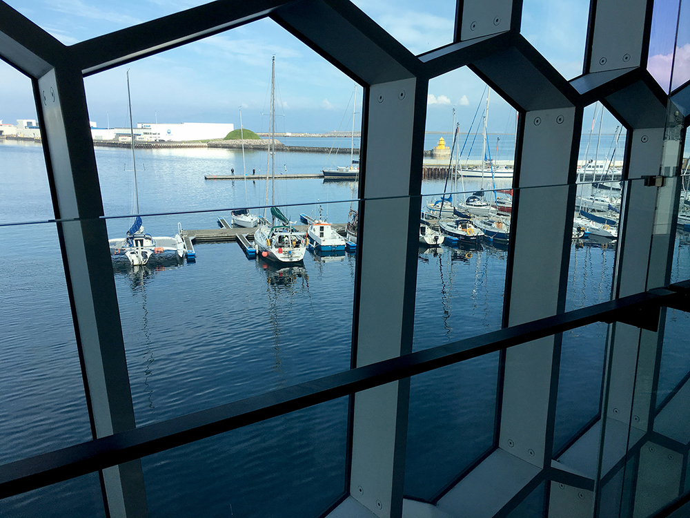 The Harbor as seen from the Harpa center.