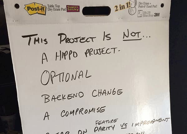 Discussion board reading : This project is not a hippo project, optional, backend change, a compromise.