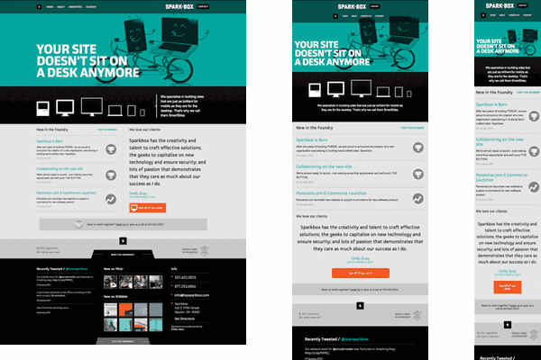 Round up sites using responsive web design sparkbox for Decorating sites