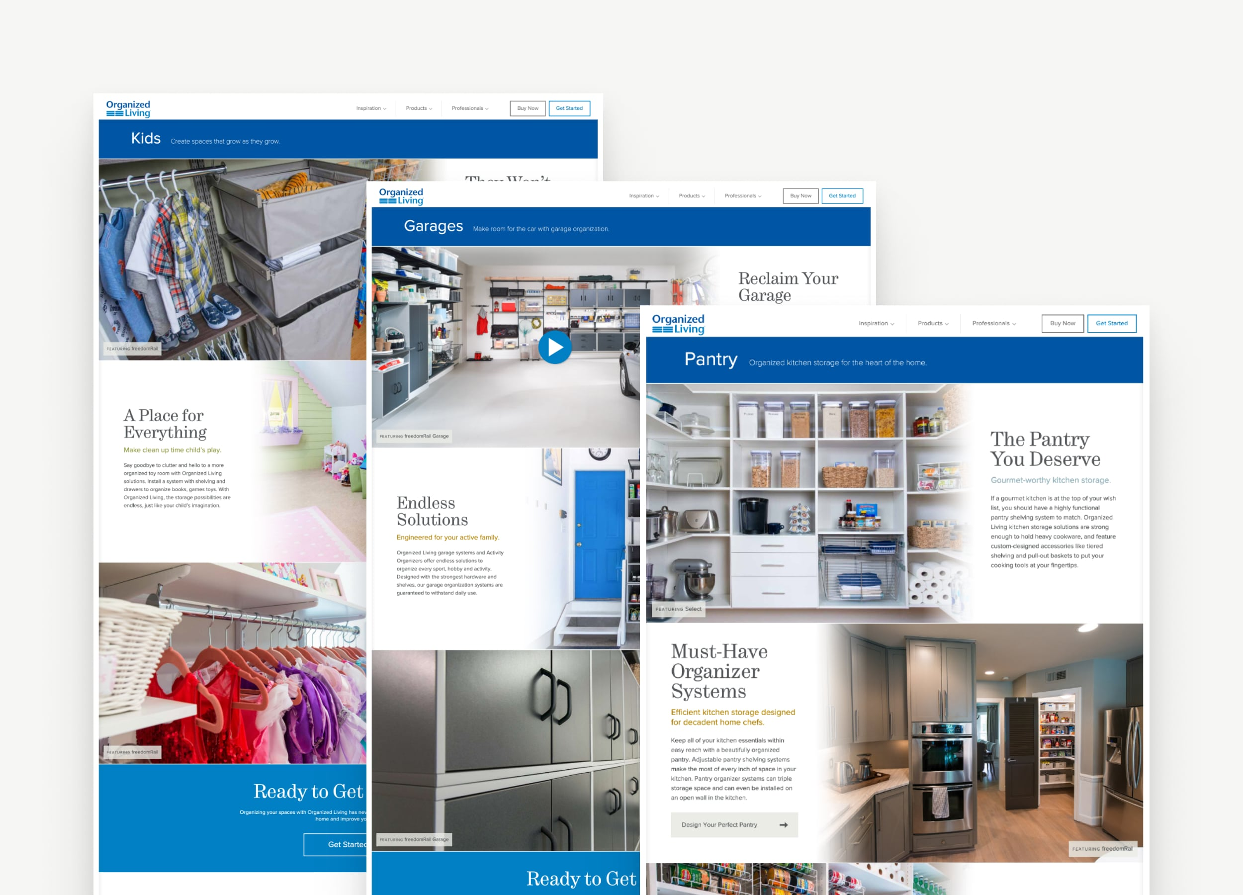 Redesigned Organized Living Website